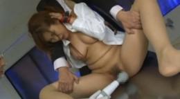ロケットおっぱいの女捜査官が拘束されてガン突き拷問!02
