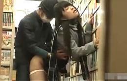 媚薬で肉棒に狂った美少女JKが本屋で白目剥いて潮吹きガクガク痙攣アクメ!南梨央奈02