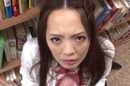 「子宮に当たる〜」爆乳図書館司書がガン突きされガクガク痙攣アクメ!Hitomi