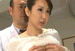 巨乳妻が夫の入院している病院で研修医達にバイブで触診されビクビク痙攣オーガズム!香川翔
