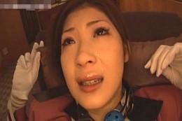 美人エレベータガールが陵辱3Pでマジ泣きしながらヒクヒク痙攣!小野紗里奈