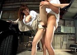 ロケットおっぱいの美人お姉さんが車の枕営業でスーツ姿のままビクビク痙攣イキ!宮野ゆかな
