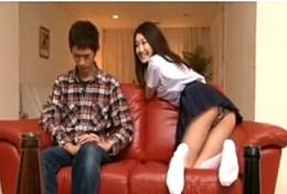 肉食JKの妹が姉旦那を寝取って連続ガクガク激痙攣アクメ!水嶋あずみ