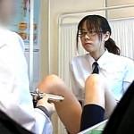 真面目そうなメガネJKが婦人科医師にコンドームの付け方を教わり即ズボ