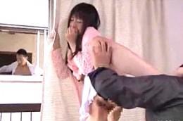 夫の前で担任教師の元彼に寝取られ中出し痙攣する若妻!つぼみ2