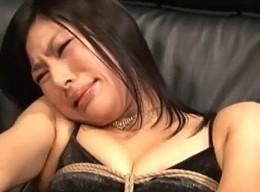 初体験フィストファックに黒髪美女がブサイクなアヘ顔痙攣!浅井千尋