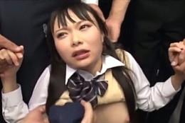 ツインテールのパイパンJKが駅のトイレで大量潮吹きガクガク痙攣中出し陵辱!なつめ愛莉3