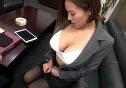 爆乳秘書が社内の性処理ペットになり中出し20連発でガクガク激痙攣!西條るり2