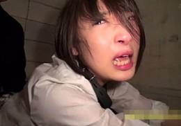 強制的にイカされ涙と鼻水まみれでマジ泣き絶叫!鬼畜中年オヤジに陵辱調教される制服JK!広瀬うみ2