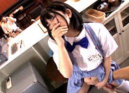 仕事中のメイド娘が凌辱され声を我慢しながら潮吹き激痙攣!浅田結梨