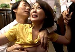 同級生の母親を集団凌辱!連続顔射にビクビク痙攣!栗野葉子