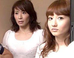 不倫中の美人妻と娘の巨乳女子大生が隣のイケメンに突かれビクビク痙攣!矢部寿恵・音羽レオン