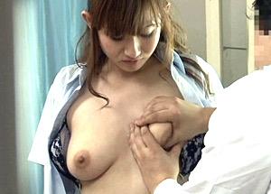彼氏と一緒に来た婦人科で鬼畜医師にイタズラされ潮吹き中出しされる巨乳JK!音羽レオン