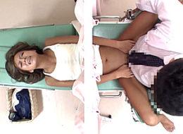 婦人科医師にイタズラされ発情した黒ギャルが大量潮吹き痙攣!新垣奈穂
