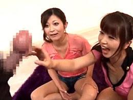 世界最大の亀頭でビクビク痙攣イキまくる逆3P!まりか・さとう遥希